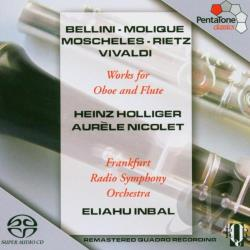 Holliger / Inbal / Nicolet / Rso Frankfurt - Works for Oboe and Flute CD Cover Art