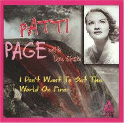 Page, Patti - I Don't Want to Set the World on Fire CD Cover Art