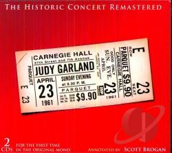Garland, Judy - Historic Carnegie Hall Concert CD Cover Art