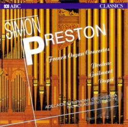 Poulenc, Guilmant, Dupr�: Organ Concertos / Simon Preston CD Cover Art
