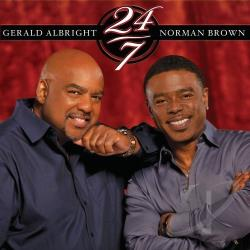 Albright, Gerald / Brown, Norman - 24/7 CD Cover Art