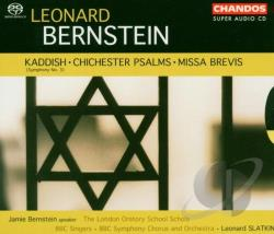 Baker / Bernstein / Murray / Strong - Leonard Bernstein: Kaddish; Chichester Psalms; Missa Brevis CD Cover Art