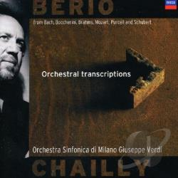 Berio / Chailly / Ghiazza / Osmv - Berio: Orchestral Transcriptions CD Cover Art