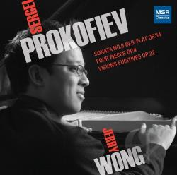 Wong, Jerry - Prokofiev: Sonata No. 8; Four Pieces; Visions Fugitives CD Cover Art