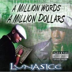 Lunasicc - A Million Words A Million Dollars CD Cover Art