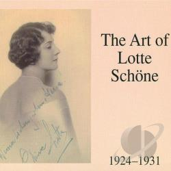 Schone, Lotte - Art of Lotte Sch�ne, 1924-31 CD Cover Art