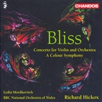 BBC Nat'L Orch Wales / Bliss / Hickox / Mordkovich - Bliss: Concerto for Violin and Orchestra; A Colour Symphony CD Cover Art