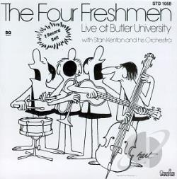 Four Freshmen - Four Freshmen Live at Butler University with Stan Kenton & His Orchestra CD Cover Art