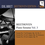 Beethoven / Biret - Beethoven: Piano Sonatas, Vol. 3 CD Cover Art