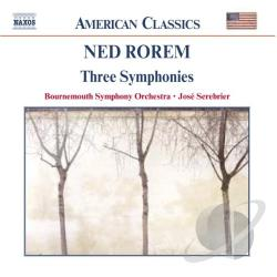 Bournemouth So / Rorem / Serebrier - Ned Rorem: Three Symphonies CD Cover Art