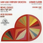 Slatkin, Leonard - Michael Colgrass: Deja-Vu; Light Spirit; Jacob Druckman: Aureole CD Cover Art