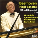Beethoven / Brendel - Beethoven: Piano Sonatas Moonlight, Pathetique, Appassionata, Les Adieux CD Cover Art