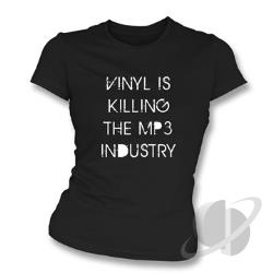 Vinyl Is Killing The MP3 Industry Slim Fit T-Shirt Black CLOTH Cover Art