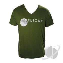 Pelican Organic V Neck T-Shirt Olive CLOTH Cover Art