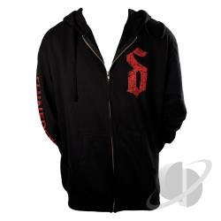 Burst Zip Hoodie Black CLOTH Cover Art
