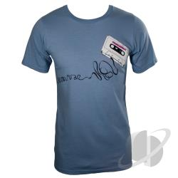 Retro Cassette Organic Basic T-Shirt Light Blue CLOTH Cover Art