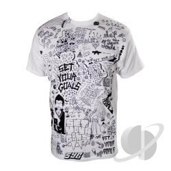 Doodle Slim Fit T-Shirt White CLOTH Cover Art