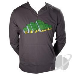 National Organic Zip-Up Hoodie Gray CLOTH Cover Art