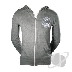 Live High Zip Hoodie Organic Gray CLOTH Cover Art